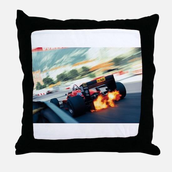 Funny Formula one Throw Pillow