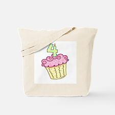 4th Birthday Cupcake Tote Bag