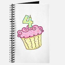 4th Birthday Cupcake Journal