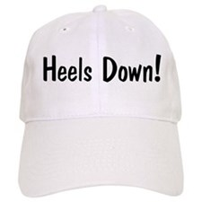 heels down horse saying Baseball Cap