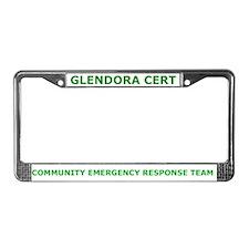 Glendora CERT License Plate Frame