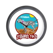 Tripawds Rock - Lottie Wall Clock