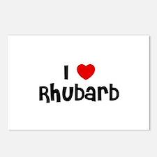 I * Rhubarb Postcards (Package of 8)