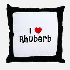 I * Rhubarb Throw Pillow