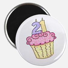 21st Birthday Cupcake Magnet