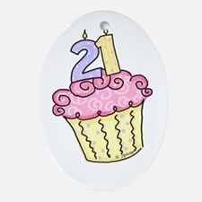 21st Birthday Cupcake Oval Ornament