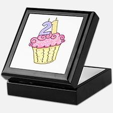 21st Birthday Cupcake Keepsake Box
