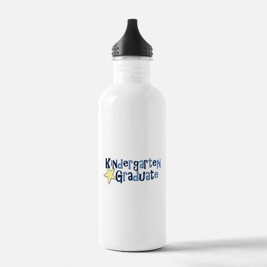 Boy Kindergarten Graduate Sports Water Bottle