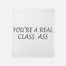 Real Class Ass Throw Blanket