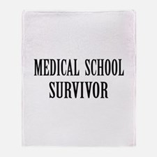 Survived Med School Throw Blanket