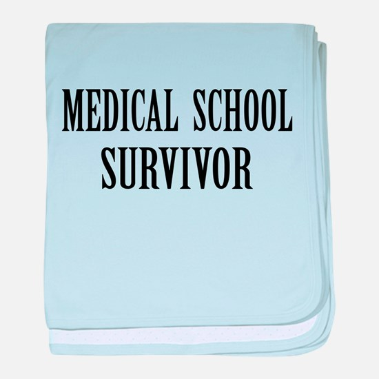 Survived Med School baby blanket