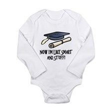 Smart Funny Grad Long Sleeve Infant Bodysuit