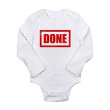 Done! Graduation Long Sleeve Infant Bodysuit