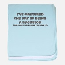 Bachelor of Arts baby blanket