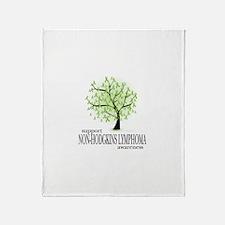 Non-Hodgkins Lymphoma Tree Throw Blanket