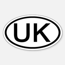 UK - Initial Oval Oval Decal