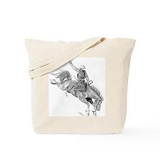 Bronco Rider Tote Bag