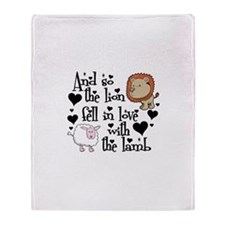 Lion fell in love with lamb # Throw Blanket