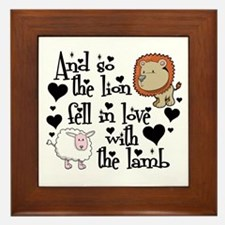 Lion fell in love with lamb # Framed Tile