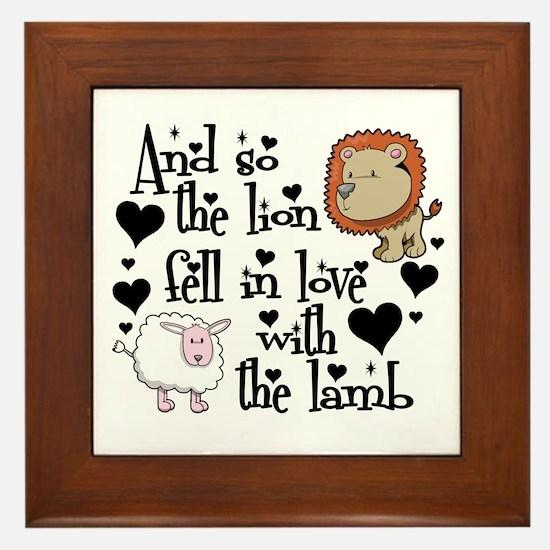Lion fell in love with lamb # Framed Tile