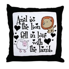 Lion fell in love with lamb # Throw Pillow