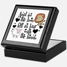 Lion fell in love with lamb # Keepsake Box
