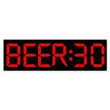 The Time is Beer:30 Bumper Sticker
