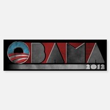 Retro Obama 2012 Sticker (Bumper)