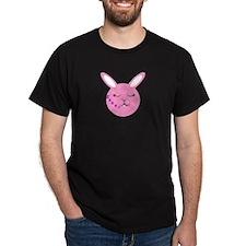 Sleepy Bunny  Black T-Shirt