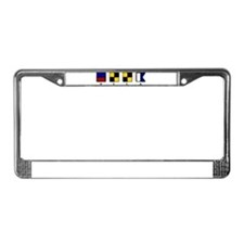 Nautical Ella License Plate Frame