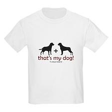 Lab/Rottweiler Kids T-Shirt