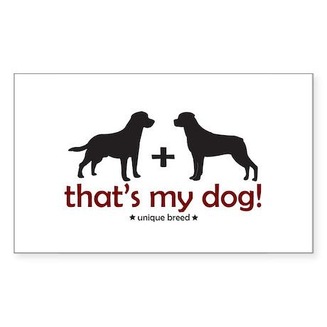 Lab/Rottweiler Rectangle Sticker