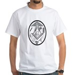 Abstract Masonic Working Tools White T-Shirt
