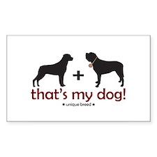 Rottweiler/St. Bernard Rectangle Decal