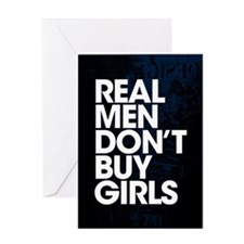 Real Men Greeting Card