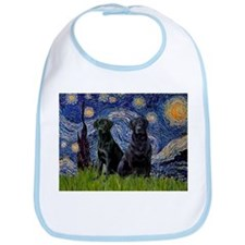 Starry Night & Black Labrado Bib