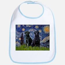 Starry Night & Black Labrado Bib