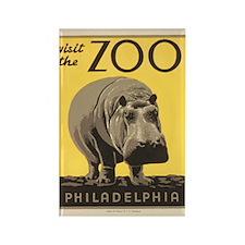 Philadelphia Zoo Rectangle Magnet