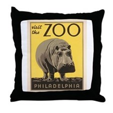 Philadelphia Zoo Throw Pillow
