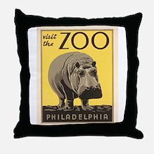 Philadelphia Zoo Throw Pillow
