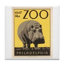 Philadelphia Zoo Tile Coaster