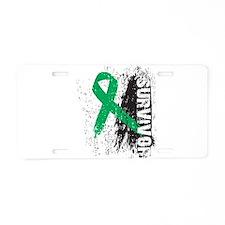 Survivor Liver Cancer Aluminum License Plate