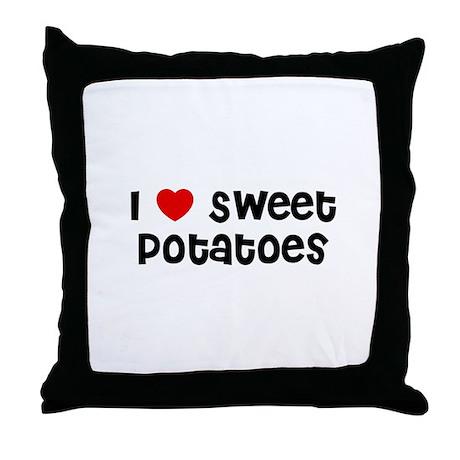 I * Sweet Potatoes Throw Pillow