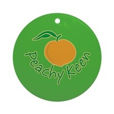 Peachy Keen Ornament (Round)