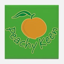 Peachy Keen Tile Coaster