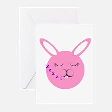 Sleepy Bunny  Greeting Cards (Pk of 10)