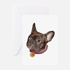 Frenchie Head Greeting Cards (Pk of 10)