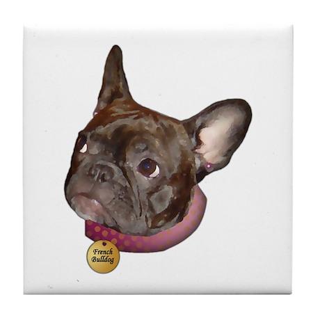 Frenchie Head Tile Coaster