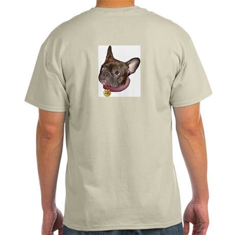 Frenchie Head Ash Grey T-Shirt