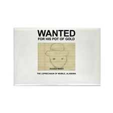The Original Wanted Leprechaun Rectangle Magnet